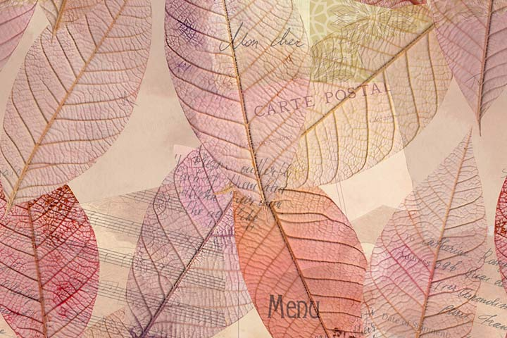 Newspaper leaf prints