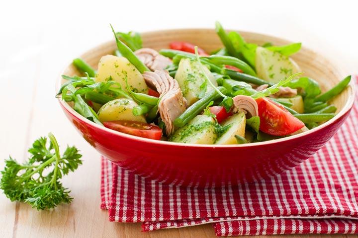 Tuna and potato salad