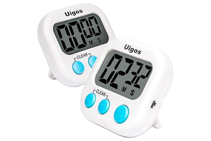 Uigos 2 Pack Digital Kitchen Timer
