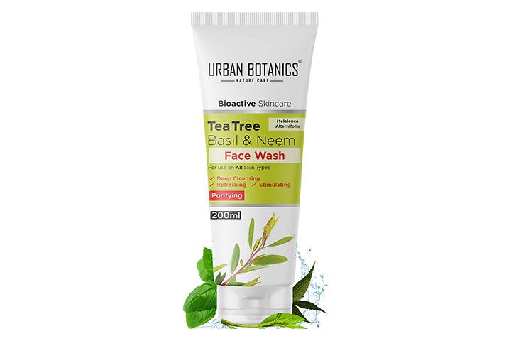 Urban Botanics Bioactive Skincare Tea Tree Basil & Neem Face Wash