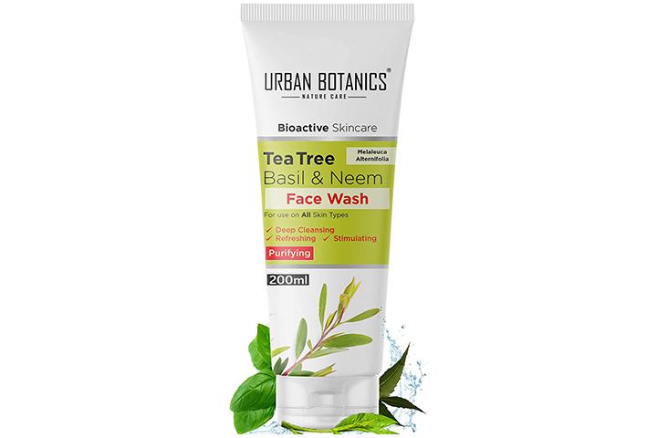 UrbanBotanics Tea Tree, Basil and Purifying Neem Face Wash