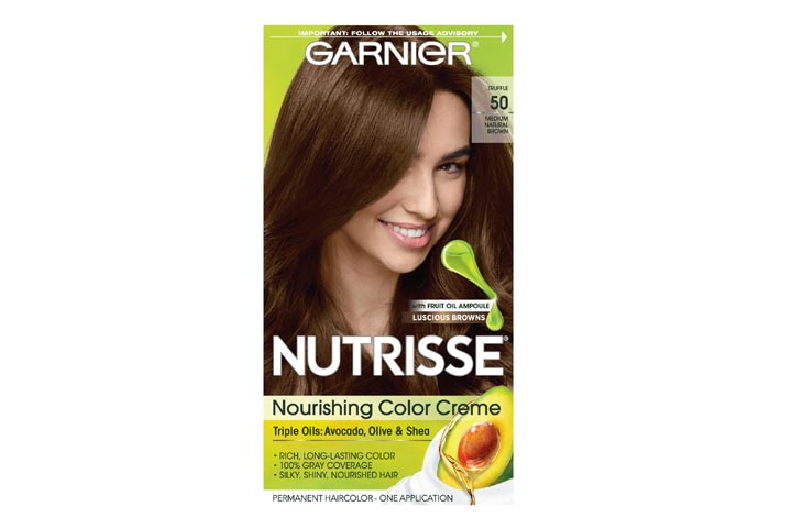 Garnier Nutrisse Nourishing Hair Color Crème 50 Medium Natural Brown