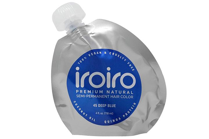 Iroiro Premium Natural Semi-Permanent Hair Color 45 Deep Blue