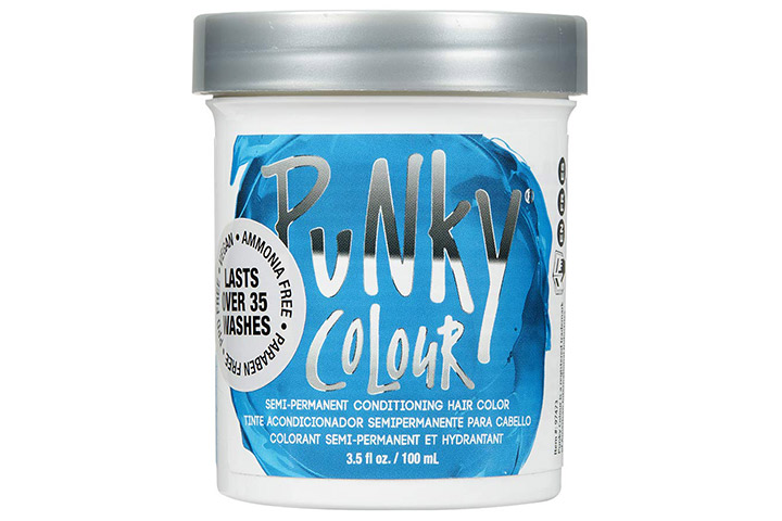 Punky Lagoon Blue Semi-Permanent Conditioning Hair Color