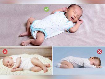 शिशु को किस पोजीशन में सुलाना सुरक्षित है?   Baby Ko Kis Position Me Sulana Chahiye