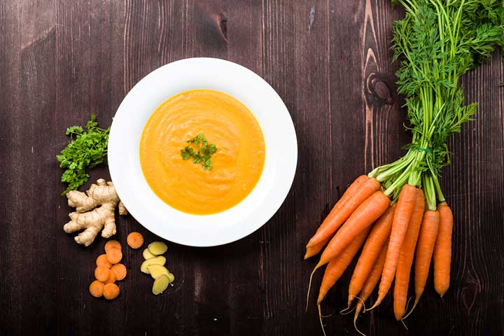 Carrot-ginger soup or puree
