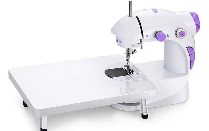 Cative Mini Sewing Machine With Extension Table And Accessories