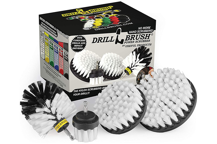 Drillbrush Automotive Soft White Drill Brush