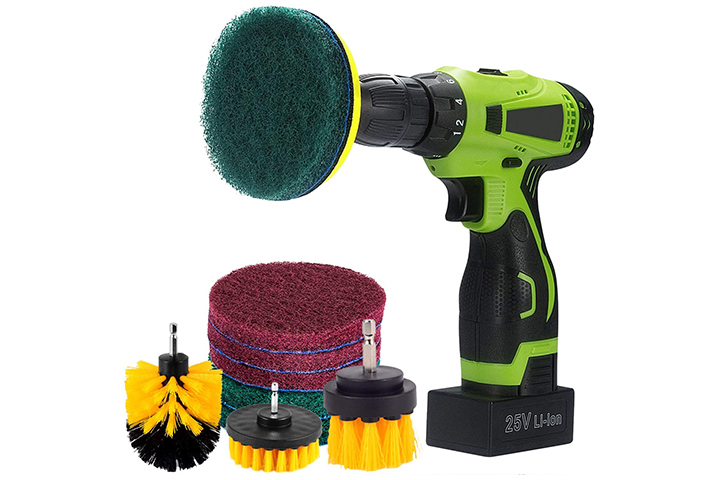 Kichwit 4 inch Drill Power Brush Scrubber Scouring Cleaning Kit