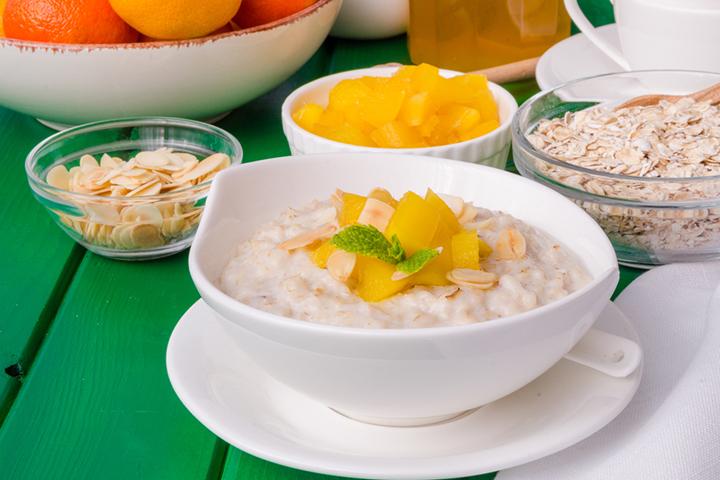 Tropical mango oatmeal
