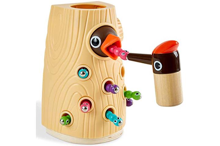 Top Bright Bird Worm Toy
