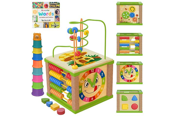 Toyventive Wooden Kids Cube