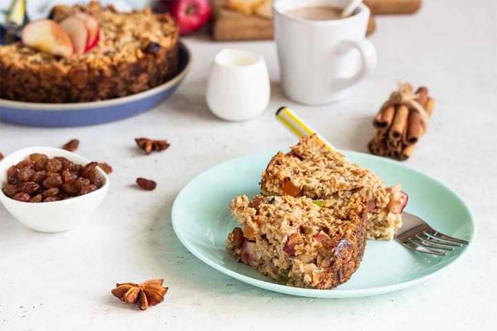 Crunchy oatmeal cake
