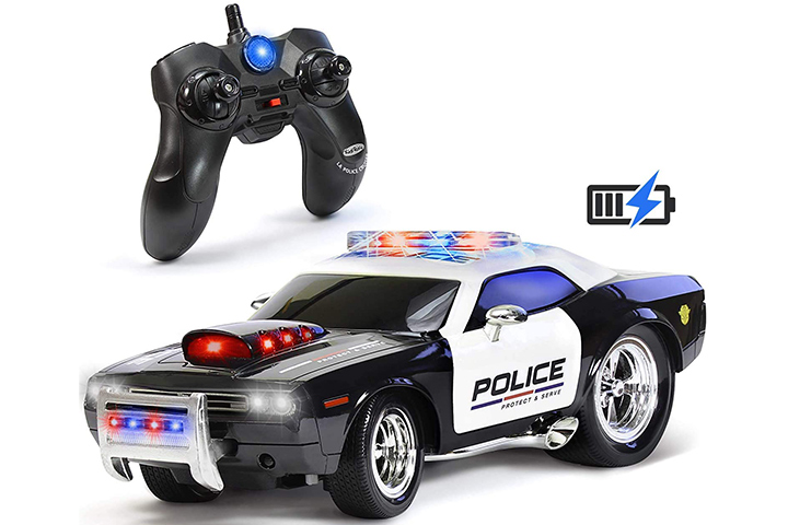 Kidirace Remote Control Police Car