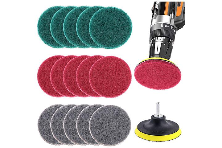 Glarks 16 Pcs 4 Inch Drill Power Brush Cleaning Kit