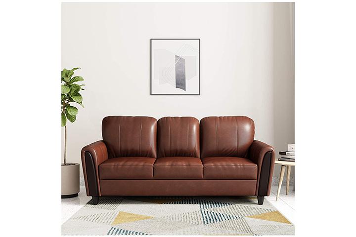Amazon Brand - Solimo Bliss Three Seater Sofa