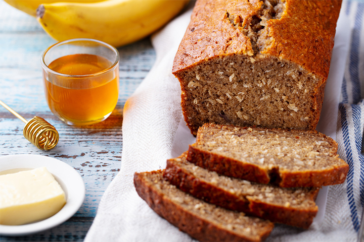 Oatmeal and banana bread