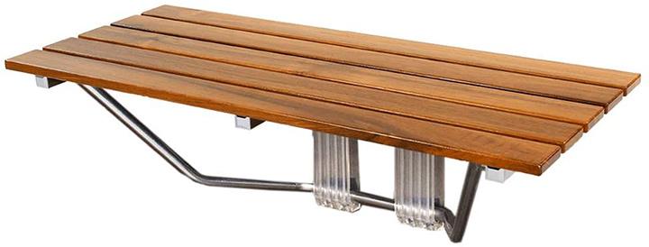Clevr Teak Wood Modern Folding Shower Seat