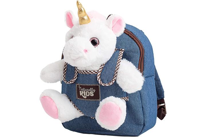 Naturally Kids Unicorn Denim Backpack